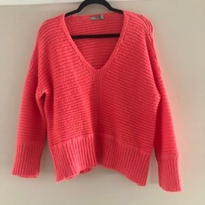 EUC Pink v-neck sweater by ASOS US size 4